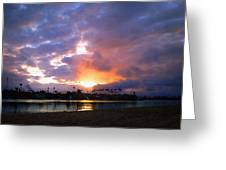 Sunrise Over Naples Island Greeting Card