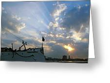 Sunrise Over Philadelphia  Greeting Card