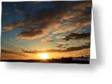 Sunrise Over Port Angeles Greeting Card