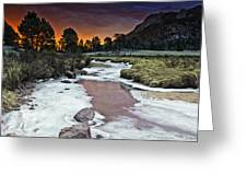 Sunrise Over Sheep Lakes Greeting Card by Tom Wilbert
