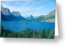 Sunrise Over St. Mary Lake, Glacier Greeting Card