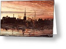 Sunrise Over St Marys Church And Rotherhithe London Greeting Card