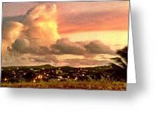 Sunrise Over Strawberry Estate - Horizontal Greeting Card