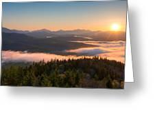 Sunrise Over The Adirondack High Peaks Greeting Card