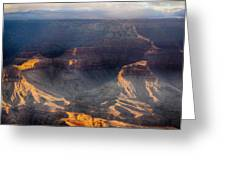 Sunrise Over The Canyon Greeting Card