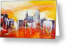 Sunrise Over The City Of Oaks Greeting Card