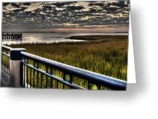Sunrise Over The Cooper River Greeting Card
