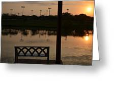 Sunrise Over The Dock Greeting Card