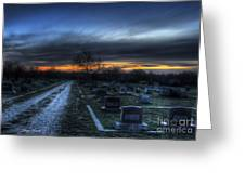 Sunrise Over The Grave Greeting Card