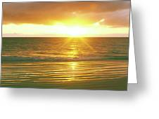 Sunrise Over The Pacific Ocean, Cabo Greeting Card