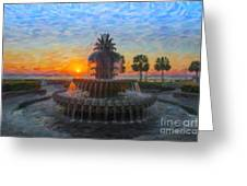 Sunrise Over The Pineapple Greeting Card
