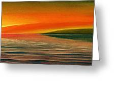 Sunrise Over The Sea Greeting Card