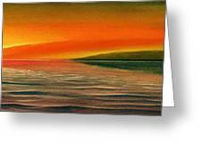 Sunrise Over The Sea Greeting Card