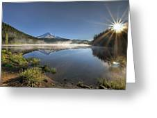 Sunrise Over Trillium Lake Greeting Card