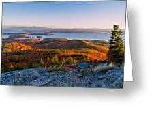 Sunrise Over Winnipesaukee. Greeting Card