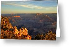 Sunrise Over Yaki Point At The Grand Canyon Greeting Card
