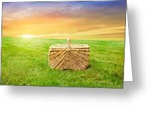 Sunrise Picnic Basket Greeting Card