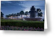 Sunrise Pineapple Fountain Greeting Card