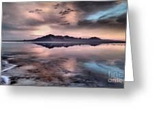 Sunrise Reflection At Salt Flats Greeting Card