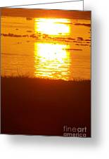 Sunrise - Reunion Island - Indian Ocean Greeting Card by Francoise Leandre
