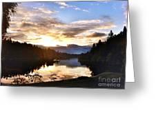 Sunrise River Mirror Greeting Card