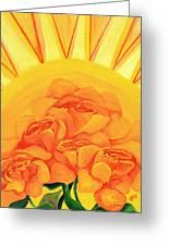 Sunrise Roses Greeting Card