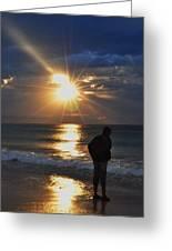 Sunrise Run On The Beach Greeting Card