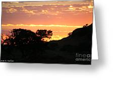 Sunrise Scenery Greeting Card
