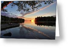 Sunrise Seat - Millinocket Lake Greeting Card