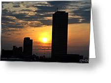 Sunrise Silhouette Buffalo Ny V2 Greeting Card
