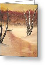 Sunrise Snow Greeting Card