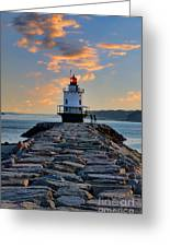 Sunrise Spring Point Ledge Greeting Card