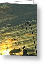 Sunrise Statue In Havana Greeting Card
