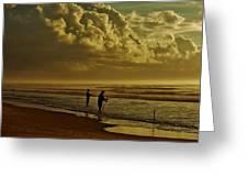 Sunrise Surf Fishing Greeting Card