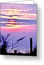 Sunrise Through The Dunes Greeting Card