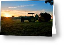 Sunrise Tractor Greeting Card