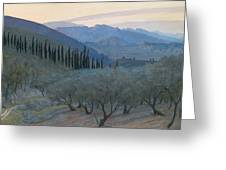 Sunrise Umbria 1914 Greeting Card