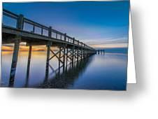 Sunrise Under The Boardwalk Greeting Card