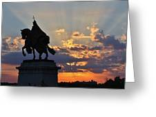 Sunrise With Saint Louis The 9th Greeting Card