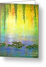 Sunrise With Water Lilies Greeting Card