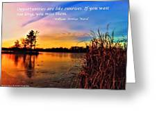 Sunrises Greeting Card by Michelle and John Ressler