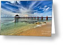 Sunscape Sabor Pier Greeting Card