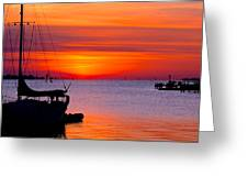 Sunset @ Galveston Bay Greeting Card