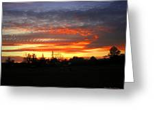 Sunset 02 28 13 Greeting Card