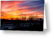 Sunset 11-14-13 2 Greeting Card