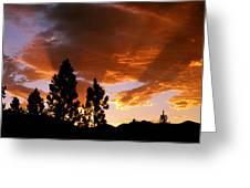 Bitterroot Valley Sunset Greeting Card
