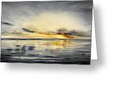 Sunset 384 Panoramic Greeting Card