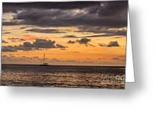 Romantic Sunset Adventure Greeting Card