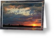 Sunset After A Thunderstorm Photoart Greeting Card