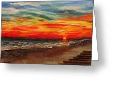 Sunset After Sandy Greeting Card